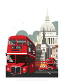 London Routemaster Blank - Dave Thompson Contemporary Travel Print Posters by Dave Thompson