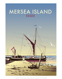 Mersea Island - Dave Thompson Contemporary Travel Print Posters by Dave Thompson