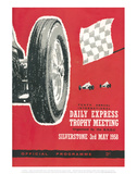 Official Programme 3rd May 1958 - Silverstone Vintage Print Poster by Silverstone