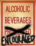 Alcoholic Beverages Plaque en métal