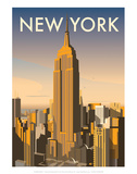 New York - Dave Thompson Contemporary Travel Print Art by Dave Thompson
