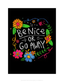 Be Nice - Katie Abey Cartoon Print Poster by Katie Abey