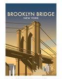 Brooklyn Bridge - Dave Thompson Contemporary Travel Print Posters par Dave Thompson