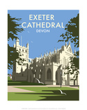 Exeter Cathedral - Dave Thompson Contemporary Travel Print Posters by Dave Thompson