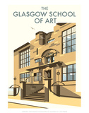 Glasgow School of Art - Dave Thompson Contemporary Travel Print Art by Dave Thompson