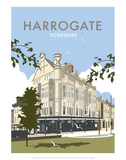 Harrogate - Dave Thompson Contemporary Travel Print Prints by Dave Thompson