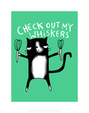 Check out my whiskers - Katie Abey Cartoon Print Print by Katie Abey