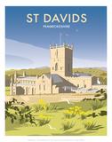 St Davids - Dave Thompson Contemporary Travel Print Prints by Dave Thompson