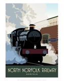 North Norfolk Railway - White One Sugar Contemporary Travel Print Posters by  White One Sugar