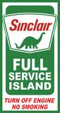 Sinclair Island Service Plaque en métal