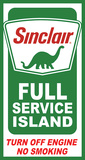 Sinclair Island Service Tin Sign