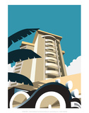 Miami Blank - Dave Thompson Contemporary Travel Print Posters by Dave Thompson