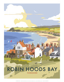 Robin Hoods Bay - Dave Thompson Contemporary Travel Print Print by Dave Thompson
