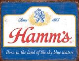 Hamm's - Sky Blue Waters Plaque en métal