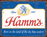 Hamm's - Sky Blue Waters Tin Sign