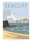 Seacliff - Dave Thompson Contemporary Travel Print Print by Dave Thompson