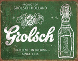Grolsch Beer - Excellence Plaque en métal