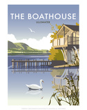 Ullswater Boathouse - Dave Thompson Contemporary Travel Print Prints by Dave Thompson