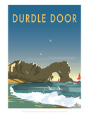 Durdle Door - Dave Thompson Contemporary Travel Print Print by Dave Thompson
