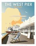 West Pier, Brighton - Dave Thompson Contemporary Travel Print Posters by Dave Thompson