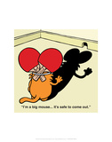 I'm A Big Mouse - Antony Smith Learn To Speak Cat Cartoon Print Print by Antony Smith