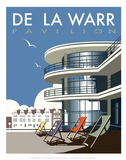 De La Warr Pavilion - Dave Thompson Contemporary Travel Print Prints by Dave Thompson