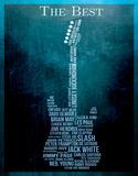 The Best Guitarists Plaque en métal