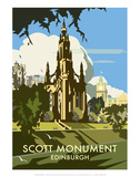 Scott Monument, Edinburgh - Dave Thompson Contemporary Travel Print Prints by Dave Thompson