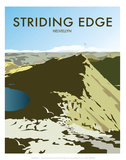 Helvellyn Edge, Lake District - Dave Thompson Contemporary Travel Print Prints by Dave Thompson
