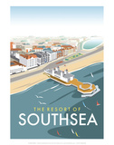 Resort of Southsea - Dave Thompson Contemporary Travel Print Print by Dave Thompson
