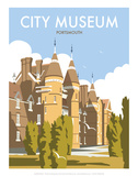 City Museum, Portsmouth - Dave Thompson Contemporary Travel Print Prints by Dave Thompson