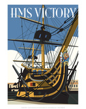 HMS Victory - Dave Thompson Contemporary Travel Print Posters by Dave Thompson