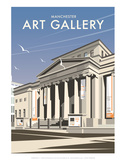 Manchester Art Gallery - Dave Thompson Contemporary Travel Print Posters by Dave Thompson