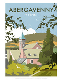 Abergavenny - Dave Thompson Contemporary Travel Print Prints by Dave Thompson