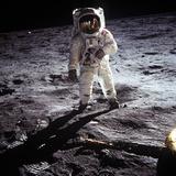 """1st Steps of Human on Moon: American Astronaut Edwin """"Buzz"""" Aldrinwalking on the Moon Foto"""