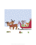 Michelle Lancaster - Sleighride - Wink Designs Contemporary Print - Poster