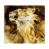 Roaring Lion, C.1833-35 Art by Eugene Delacroix