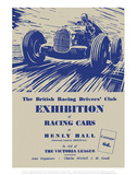 Exhibition of Racing Cars - Silverstone Vintage Print Prints by Silverstone