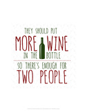 More Wine - Wink Designs Contemporary Print Posters av Michelle Lancaster
