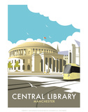 Manchester Central Library - Dave Thompson Contemporary Travel Print Prints by Dave Thompson