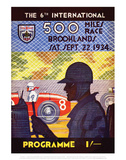 500 Miles Race 22nd Sept 1934 - Silverstone Vintage Print Poster by Silverstone
