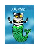 Le Murmaid - Katie Abey Cartoon Print Prints by Katie Abey