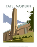 The Tate Modern - Dave Thompson Contemporary Travel Print Posters by Dave Thompson