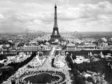 World Fair in Paris in 1900 : Champs De Mars with Eiffel Tower Foto