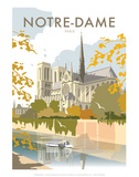 Notre Dame - Dave Thompson Contemporary Travel Print Posters by Dave Thompson