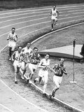 Olympic Games 1952 : Emil Zatopek in the Lead During 5000 M. Race July 25, 1952 Photo