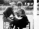 American Soldier Learning French with a French Woman, 1917-1918 Photo