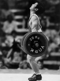 Olympic Games in Los Angeles, 1984 : Weightlifting: Chinese Wu Shude July 30, 1984 Foto