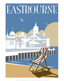 Eastbourne - Dave Thompson Contemporary Travel Print Posters by Dave Thompson