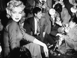 Marilyn Monroe Surronded by Photographers C. 1955 Photo